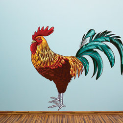 Rooster Vinyl Wall Decal RoosterUScolor001; 12 in. - Vinyl Wall Decals are an awesome way to bring a room to life!