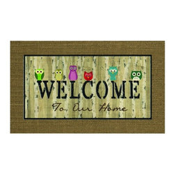 BuyMATS Inc. - Welcome Owls Entry Mat - •Exciting full color design Indoor/Oudoor Entry MAT with built in channels provide high fashion appeal.