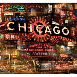 Chicago 11x14 Print - Chicago 11x14 Gallery Wrapped Canvas Giclee by Giesla