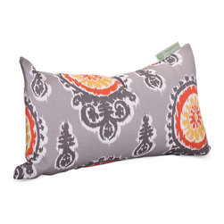 Majestic Home - Outdoor Citrus Michelle Small Pillow - Add a splash of color and a little texture to any environment with these great indoor/outdoor plush pillows by Majestic Home Goods. The Majestic Home Goods Small Pillow will add additional comfort to your living room sofa or your outdoor patio. Whether you are using them as decor throw pillows or simply for support, Majestic Home Goods Small Pillows are the perfect addition to your home. These throw pillows are woven from Outdoor Treated polyester with up to 1000 hours of U.V. protection, and filled with Super Loft recycled Polyester Fiber Fill for a comfortable but durable look. Spot clean only.