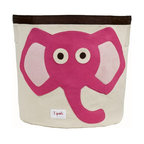 3 Sprouts - 3 Sprouts Storage Bin, Pink Elephant - Help your kids clean up their acts with our cute elephant pattern animal storage bins in pink from 3 Sprouts . This bin is well sized for storing toys or as a laundry hamper. The bin collapses for easy storage when not in use. It is made up of 100% cotton canvas and coated on the inside for easy cleaning. It is the perfect gift for babies and toddlers.