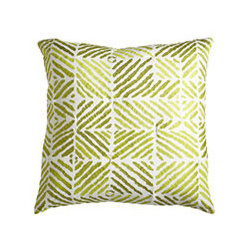 TRIBAL PILLOW - IVY - Geometric shapes that resemble zebra stripes can be fun or serious. Use several colors together for added drama, or use individually to add or highlight an accent color in existing décor.