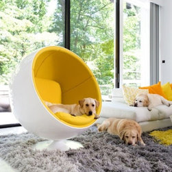 Ball Chair, Yellow -
