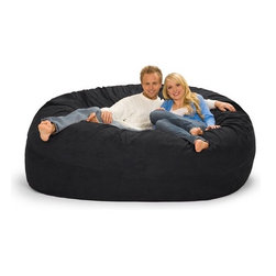 Relax Sacks - Giganti Sac Bean Bag Cover Fabric - This oval shaped version of the classic bean bag chair is the Cadillac of modern foam filled chair. Relax Sacks are often touted by fans as, ''the most comfortable chair in the world''. They are a perfect way to create a relaxed, informal setting or liven up your home theatre, gaming room or playroom. Giant foam sofa sacks are perfect for watching TV, gaming, listening to music or just relaxing. Relax Sacks are comprised of only the finest materials available, far exceeding those of other brands. Double top stitched seams on both inner liner and outer covers securely bond the highest grade fabric to ensure no failures occur for years to come. Unlike the classic bean bags of the 70's which were filled with styrofoam beads that quickly broke down and lost their shape, our polyurethane foam is made in the USA, trimmed in US furniture factories, and finally shredded and stuffed in our facility located in the heartland of America. Over a dozen years of research and fine tuning have combined to create a perfect marriage between such factors as: size, density, and amount of shredded foam, breathability, durability, and comfort of fabric, size, brand, and safety of zippers. Consider carefully all factors when purchasing this piece of furniture and remember not all giant foam bag chairs are created equal. Restoring the puffiness of your chair is easy, simply roll it around on the floor until you have sufficiently fluffed the life back. We strongly suggest you frequently fluff your chair to maintain the integrity and soft feel of the foam. Features: -Premium YKK 5 zippers.-Durable 220 GSM fabric.-Double top stitched seams.-ISTA 3A certified.-Machine washable zip-off cover.-Collection: Giganti.-Distressed: No.-Country of Manufacture: United States.Specifications: -USA made foam 2CFW.Dimensions: -Overall Product Weight: 102 lbs.Warranty: -1 Year warranty.