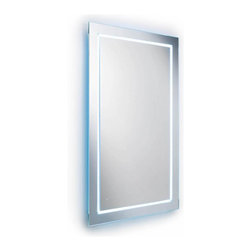 WS Bath Collections - Rectangular Wall Mount Mirror with LED Lighti - Modern/ contemporary design. LED lighting. 5 years silvering guaranteed. Warranty: 1 year. Made of glass mirror. Glass frame with silver back plating. Made in Italy. 27.6 in. W x 31.5 in. H (45 lbs.). Spec SheetLinea; washbasins, washstands, and bathroom furniture, of various sizes and materials. Pureness of glass, polish of steel, and warmth of wood. Perfection of lines, art, and harmony. Made by Lineabeta of Italy to Highest Industry standards.