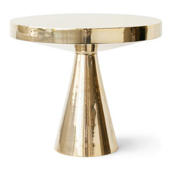 Gold Pedestal Table - This little pedestal table is as sweet and sophisticated as can be. It's entirely perfecto for catching a book and cup of coffee.
