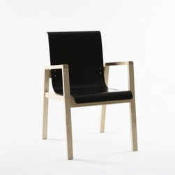 """Artek - Hallway Chair 403 - Features: -Frame made from birch in natural lacquer. -Seat molded made from birch plywood. -Seat height: 16.5"""". -Overall dimensions: 31.6"""" H x 20.5"""" W x 23.6"""" D."""