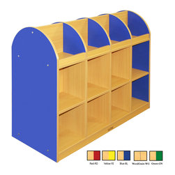 Ecr4kids - Ecr4Kids Classroom Colorful Essentials 2-Sided Book Stand Red - Standard - Easy-to-clean satin resistant laminate. a warm maple finish with your choice of side color. Adult assembly required. Storage bins not included.