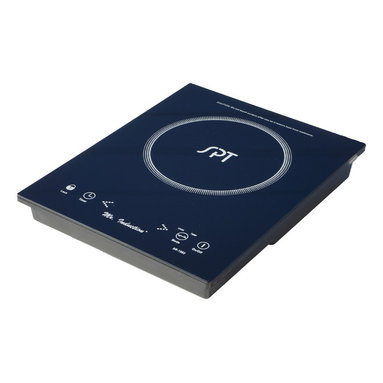 SPT - Built-In / Countertop 1650W Induction Cooktop - Micro-Induction Cooktop provides the best in cooktop performance, safety and efficiency. Induction heats as electricity flows through a coil to produce a magnetic field under the ceramic plate. When a ferromagnetic cookware is placed on the ceramic surface, currents are induced in the cookware and instant heat is generated due to the resistance of the pan. Heat is generated to the pan only and no heat is lost. As there are no open flames, inductions are safer to use than conventional burners. Once cookware is removed, all molecular activity ceases and heating is stopped immediately.