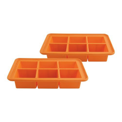 """Casabella - Big Ice Cube Trays (Set Of 2) - Large ice cube tray makes 6 over-sized cubes for a slower melt. It is perfect for keeping large pitchers and punch bowls or individual handcrafted cocktails cold!  Made from FDA approved food grade silicone can be used for baking and freezing Temperatures of -58 degrees F(-50 degrees C) to 500 degrees F(300 degrees C) Great for making chocolates candy and baked treats Non-spill reservoir Dishwasher safe Set of 2 7.75"""" x 4"""""""