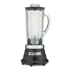 Waring Pro - Waring Pro PBB209 Professional Food & Beverage Blender - PBB209 - Shop for Blenders from Hayneedle.com! Crushing the competition and your ice with just a push of the button is the Waring Pro PBB209 Professional Food & Beverage Blender. Designed to puree your soups mix your dips blend your drinks and blow the socks off of your guests this blender does it all and then some. It's never been easier to look like the super host you are.Additional features:Made in the USAComplete with a 6-foot power cord so blender can be used almost anywhereNon-slip rubber feet prevent spills and accidentsRemovable stainless steel blade for easy cleaning - simply wipe down with soap and waterDurable heat-proof glass carafe is dishwasher-safeRubber lid with plastic 1-ounce measuring insert and blade assembly seal - hand wash onlySleek ebony finish accommodates all decorsStandard 1-year product and service warranty; 5-year motor warrantyAbout WaringIf you've ever used a blender you can thank Fred Waring inventor of the blendor or as he first called it the disintegrating mixer. That was back in 1936. Since then he has changed the name to blender and established Waring a global company that proudly makes professional-quality kitchen products. The company has two product divisions: Waring Pro and a commercial division. In recent years Waring Pro has broadened its market reach with everything from deep fryers and waffle makers to wine chillers and food dehydrators.