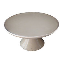 Tania Julian Ceramics - Cakestand with dots, Large - Beautiful simple and elegant cupcake stand with raised dot design.