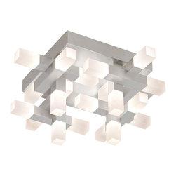 Sonneman - Sonneman 2124.16 Connetix Bright Satin Aluminum LED Flush Mount - Sonneman 2124.16 Connetix Bright Satin Aluminum LED Flush Mount