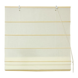 Oriental Furniture Cotton Roman Shades, Cream - I love the how practical and simple Roman shades are. This creamy hue lets a diffused morning sun light sneak into your bedroom and wake you up.