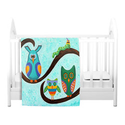 DiaNoche Designs - Throw Blanket Fleece - Birds of a Feather - Original Artwork printed to an ultra soft fleece Blanket for a unique look and feel of your living room couch or bedroom space.  DiaNoche Designs uses images from artists all over the world to create Illuminated art, Canvas Art, Sheets, Pillows, Duvets, Blankets and many other items that you can print to.  Every purchase supports an artist!