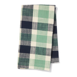 """Pehr Designs - Indigo, Grass Slubby Cotton Tea Towel - These buffalo checked tea towels are made of an absorbent 100% slubby cotton and will infuse style into any kitchen. All tea towels are 18"""" x 24""""."""