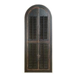 Bassett Mirror Company - Bassett Mirror Easy Living Arched Shutter Mirror in Rusticated Black - Arched Shutter Mirror in Rusticated Black belongs to Easy Living Collection by Bassett Mirror Company Bassett Mirror is fluent in this art, showing a terrific contemporary furniture that will satisfy on the one hand fans of home coziness, and on the other hand - seekers of non-standard design solutions also. One of the many strengths of the Bassett Mirror is using high quality materials for perfect embodiment of brilliant design ideas. Mirror (1)