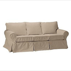 """PB Basic Slipcovered Sleeper Sofa, Polyester Wrap Cushions, Twill Walnut - Our PB Basic Collection is crafted with the same attention to quality, detail and durability that's been the hallmark of American-made furniture for hundreds of years. The sleeper sofa has long been a relaxed, comfortable favorite. 83"""" w x 35"""" d x 35"""" h {{link path='pages/popups/PB-FG-Basic-3.html' class='popup' width='720' height='800'}}View the dimension diagram for more information{{/link}}. {{link path='pages/popups/PB-FG-Basic-6.html' class='popup' width='720' height='800'}}The fit & measuring guide should be read prior to placing your order{{/link}}. Polyester wrapped cushions provide a tailored and neat look. Proudly made in America, {{link path='/stylehouse/videos/videos/pbq_v36_rel.html?cm_sp=Video_PIP-_-PBQUALITY-_-SUTTER_STREET' class='popup' width='950' height='300'}}view video{{/link}}. For shipping and return information, click on the shipping info tab. When making your selection, see the Special Order fabrics below. {{link path='pages/popups/PB-FG-Basic-7.html' class='popup' width='720' height='800'}} Additional fabrics not shown below can be seen here{{/link}}. Please call 1.888.779.5176 to place your order for these additional fabrics."""