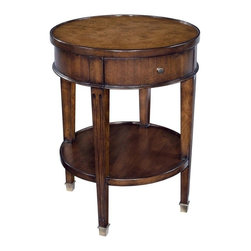 EuroLux Home - New Round Neo-Classical Side Table Mahogany - Product Details