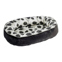 Bowsers Diamond Series Microvelvet Designer Orbit Dog Bed - Let your dog rest easy in a Bowsers Designer Orbit Microvelvet Dog Bed. The luxurious microvelvet fabric and oval outer ring surround your pet in the utmost comfort making her feel safe and secure. 100% polyester virgin fiberfill maintains supportive uniform comfort. The convenient removable tufted cushion can be used as a crate or travel mat. This award-winning design comes in a variety of sizes and colors so you can choose the perfect fit for your dog as well as your décor.All of these dog beds are made with strong luggage-quality zippers and supersoft pre-washed color-safe fabrics. Each product is manufactured to meet the highest standards and inspected individually to ensure quality. Small dog bed dimensions27L x 22W x 7H inches Medium dog bed dimensions35L x 27W x 8H inches Large dog bed dimensions42Lx 32W x 9H inches Extra-large dog bed dimensions50L x 36W x 9H inches XX-Large dog bed size55L x 35W x 11H inchesAbout BowsersSince 1998 Bowsers has been a leader in quality pet products. Focusing on high-quality material superior craftsmanship and a wide array of over 65 upholstery fabrics Bowser's practical designs have created a revolution in the way many people think of pet products. The interior design team led by Eileen Wilkes and Linda Brown ensures that the award-winning designs reflect the latest contemporary trends in home decor.