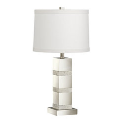 Kichler Lighting - Kichler Lighting KCH-70873 Denly Transitional Table Lamp - This refined 1 light denly portable table lamp features a brushed nickel finish and a distinctive fabric shade. With a classic profile, this design will complement any setting in your home.