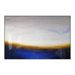 Large Original Abstract Landscape Canvas Modern Acrylic Painting - 40x60 - Dimensions :40x60 profile of 1.5''