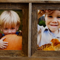 MyBarnwoodFrames - Collage Picture Frame Barnwood Double Frame, 8x10 - Barnwood  Collage  Frame  with  2  8x10  Openings                  Holds  two  8x10  photos              Handcrafted  from  Natural  Barnwood              Made  in  USA