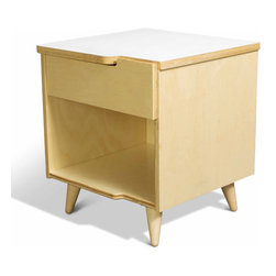 True Modern - 11-Ply Nightstand, White - A sleek and sophisticated nightstand is a must-have for your modern bedroom. Set a lamp and your favorite book on top for a minimalist look. The sustainable birch plywood will fit right in with your contemporary style.