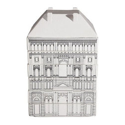 Seletti - Seletti Palace Governo Soup Bowl Set - The Seletti Palace Governo Soup Bowl Set is a revolutionary concept for an auteur souvenir. The set is designed by Selab and Allessandro Zambelli and resembles a Renaissance era French Palace when stacked together. Made from fine dolomite porcelain with high temperature resistant decoration, the containers are stackable and disassemble into a set of 6 dishes and a soup tureen (the chimneys of the palace become the feet of the tureen).  This creative dinner service can be set as a decorative design element when it is not in use.  Dimensions: 7'' x 7'' x 1.6'' H (dish). Product Features: Food, Microwave and Dishwasher safe.