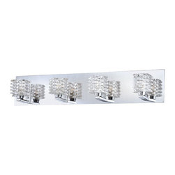 Eurofase Lighting - Eurofase Lighting 25724 Lenza 4 Light Modern Bathroom Vanity Light with Glass Sh - Features: