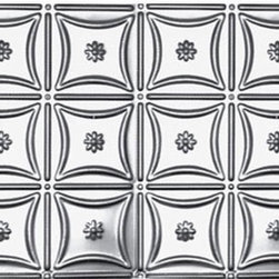 Decorative Ceiling Tiles - Shanko - Stainless Steel - Wall and Ceiling Patterns - #200ss - DecorativeCeilingTiles offers a great selection of backsplashes. Use them in the kitchen, by your grill or anywhere else you'd like to feature an elegant way to protect your walls and show off your home.