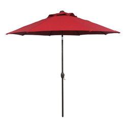 Abba Patio - Abba Patio 9Ft Sunbrella Market Aluminum Umbrella with Auto Tilt and Crank, Red, - Abba Patio® Sunbrella Market Umbrellas Collection