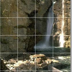 Picture-Tiles, LLC - Waterfalls Photo Ceramic Tile Mural 3 - * MURAL SIZE: 72x48 inch tile mural using (24) 12x12 ceramic tiles-satin finish.