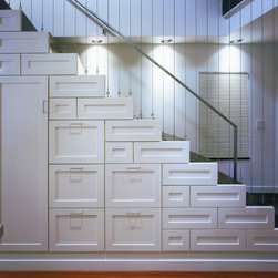 Contemporary wainscoting staircase design ideas pictures remodel decor - Appartement duplex winder gibson architecte ...