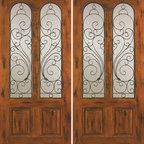 """Exterior Double Door, Knotty Alder Twin Lite 2 Panel - SKU#SW-90_2BrandAAWDoor TypeExteriorManufacturer CollectionWestern-Santa Fe Entry DoorsDoor ModelDoor MaterialWoodWoodgrainKnotty AlderVeneerPrice1960Door Size Options2(30"""") x 80"""" (5'-0"""" x 6'-8"""")  $02(32"""") x 80"""" (5'-4"""" x 6'-8"""")  $02(36"""") x 80"""" (6'-0"""" x 6'-8"""")  +$202(42"""") x 80"""" (7'-0"""" x 6'-8"""")  +$1602(36"""") x 84"""" (6'-0"""" x 7'-0"""")  +$1602(30"""") x 96"""" (5'-0"""" x 8'-0"""")  +$3202(32"""") x 96"""" (5'-4"""" x 8'-0"""")  +$3202(36"""") x 96"""" (6'-0"""" x 8'-0"""")  +$3402(42"""") x 96"""" (7'-0"""" x 8'-0"""")  +$740Core TypeSolidDoor StyleRusticDoor Lite StyleTwin LiteDoor Panel Style2 PanelHome Style MatchingSouthwest , Log , Pueblo , WesternDoor ConstructionTrue Stile and RailPrehanging OptionsPrehung , SlabPrehung ConfigurationDouble DoorDoor Thickness (Inches)1.75Glass Thickness (Inches)1/4Glass TypeSingle GlazedGlass CamingGlass FeaturesGlass StyleGlass TextureClearGlass ObscurityDoor FeaturesDoor ApprovalsDoor FinishesDoor AccessoriesWeight (lbs)680Crating Size25"""" (w)x 108"""" (l)x 52"""" (h)Lead TimeSlab Doors: 7 daysPrehung:14 daysPrefinished, PreHung:21 daysWarranty1 Year Limited Manufacturer WarrantyHere you can download warranty PDF document."""