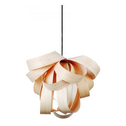 ParrotUncle - Unique Design Wooden Pendant Lighting - This beautiful and artistic butterfly pendant flutters its intricate wings of walnut, sourced from sustainably managed forests, allowing just enough light to not distract.