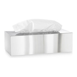 Blomus - Nexio Polished Tissue Box - You know all the brightly-colored tissue boxes that stand out like a design train wreck on your nightstand, bathroom sink or office desk? The solution is a polished, stainless steel tissue holder featuring a simple facade that works with any decor. And that's nothing to sneeze at.