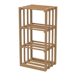 """EcoWineracks 18.34"""" Wide Lower Rectangular Bin Rack, Natural Color - EcoWineracks are the worlds only traditional style wine racks made from non-forested and sustainable bamboo. Bamboo is superior to wood in strength and durability, is non-warping and has consistent grain."""