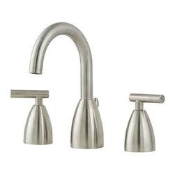 "Pfister - Price Pfister Contemporary Lavatory 8-15 Lavatory Faucet, Satin Nickel - Price Pfister GT49-NK00 Contemporary Lavatory 8-15"" Lavatory Faucet with All Metal Pop-Up, Satin Nickel"
