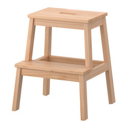 BEKVÄM Step stool - Solid wood; can be sanded and the surface treated as required.
