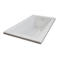 Arista - Bronzino 32 x 66 Rectangular Soaker Drop-In Bathtub - Tub w/ Reversible Drain - DESCRIPTION