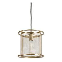 Uttermost - Maille 1-Light Bronze Mini Pendant - Uttermost Maille 1 light bronze mini pendant. Coffee bronze.