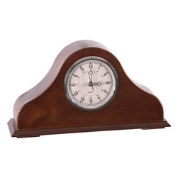 American Furniture Classics - Remington Hide-A-Gun Mantel Clock - Quartz movement. Lockable handgun and accessory storage. Self supporting hinge. Solid Wood and Wood Veneers. Burnished Brown Cherry finish. 5 in. D x 15 in. W x 8 in. H (5 lbs.)
