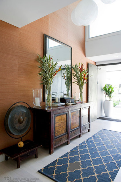 Houzz Foyer Wallpaper : Houzz tour an updated s home balances family and