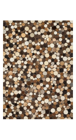 "Loloi Rugs - Loloi Rugs Tahoe/Hemingway Collection - Pebble, 5' x 7'-6"" - The rugged elegance of the Tahoe Collection is perfectly suited for a variety of settings from a cozy cabin to a chic southwestern loft. Comprised of a variety of unique patterns, the collection is constructed from 100% cowhide and hand stitched in China."
