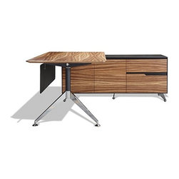 Jesper Office | 400 Collection Executive Desk With Return Cabinet -