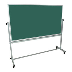 Luxor - Luxor Reversible Whiteboard - MB7240 - Luxor MB whiteboard series are made from magnetic reversible whiteboards. White paint finish on main frame