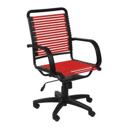 Eurostyle - Eurostyle Bungie Flat High Back Chair in Red & Graphite Black - Flat High Back Chair in Red & Graphite Black belongs to Bungie Collection by Eurostyle Designed to fit your seat. And your back. And your workstyle. With natural ventilation, the Bungies turn long hours of work into the comfort zone. No napping! Office Chair (1)