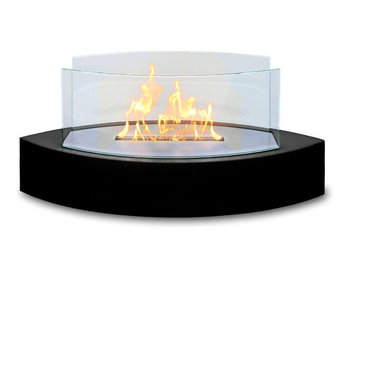 Anywhere Fireplace - Lexington Tabletop Bio-ethanol Fireplace, Black - Forget about candles and other table top accents to add ambiance. The Lexington model Anywhere FireplaceTM brings you all the tabletop elegance you are looking for with its distinctive shape, high gloss white finish and its real flames. Enjoy the ambiance of a real fire but without the hassle of smoke, melting wax, soot, ash, smell etc. Use it on the dinner table or a coffee table.