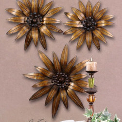 "13479 Golden Gazanias, S/3 by uttermost - Get 10% discount on your first order. Coupon code: ""houzz"". Order today."